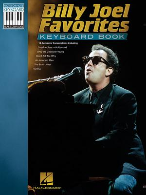 Billy Joel Favorites Keyboard Book By Joel, Billy (CRT)